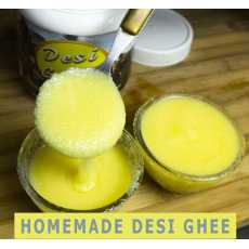 Natural and organic Homemade Desi Ghee - Clarified Butter - 1kg - Free Wooden...
